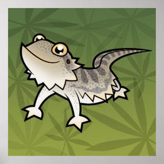 Cartoon Bearded Dragon / Rankin Dragon Poster