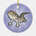 Cartoon Bearded Dragon / Rankin Dragon Round Ceramic Decoration