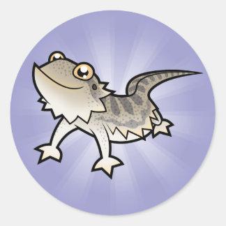 Cartoon Bearded Dragon / Rankin Dragon Round Sticker