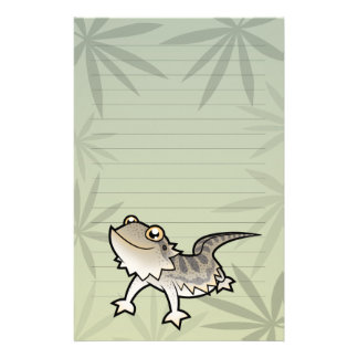 Cartoon Bearded Dragon / Rankin Dragon Stationery Design