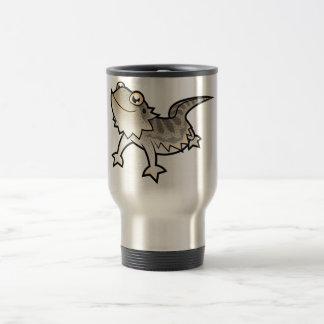 Cartoon Bearded Dragon / Rankin Dragon Travel Mug