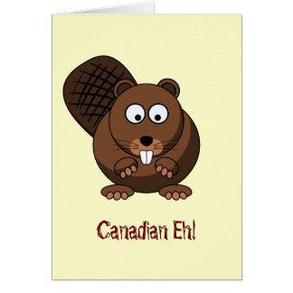 Cartoon Beaver Card