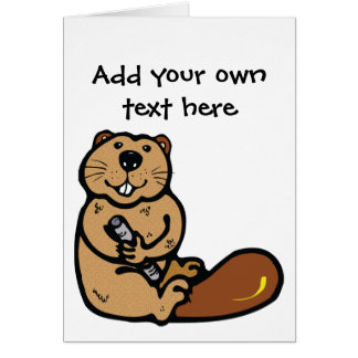 Cartoon Beaver for International Beaver Day Card