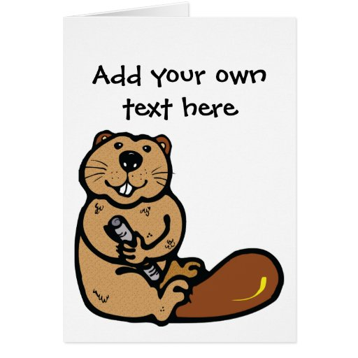 Cartoon Beaver for International Beaver Day Greeting Cards