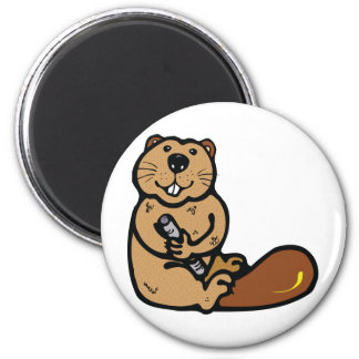Cartoon Beaver for International Beaver Day Magnet