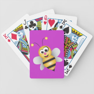 Cartoon Bee Bicycle Playing Cards