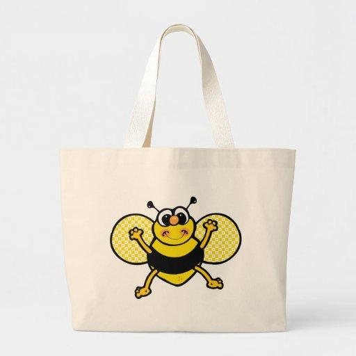 Cartoon Bee Jumbo Tote Bag