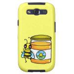 Cartoon bee leaning on honey jar galaxy s3 case