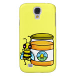 Cartoon bee leaning on honey jar galaxy s4 covers