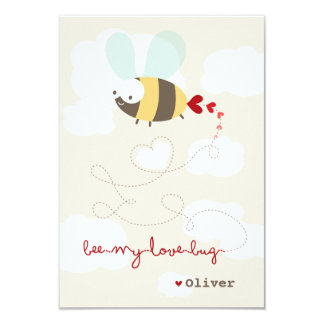Cartoon Bee Love Classroom Valentine Photo Card
