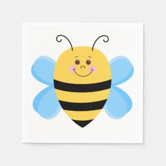 Cartoon Bee Paper Serviettes