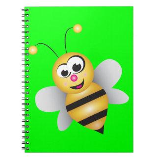 Cartoon Bee Spiral Notebook