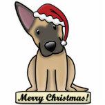 Cartoon Belgian Malinois Christmas Ornament Photo Sculpture