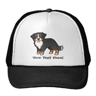 Cartoon Bernese Mountain Dog Cap