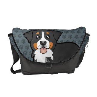 Cartoon Bernese Mountain Dog Courier Bag
