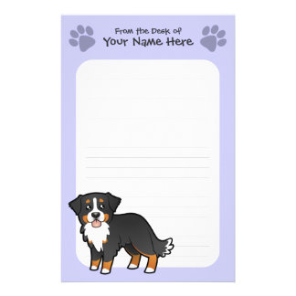 Cartoon Bernese Mountain Dog Stationery