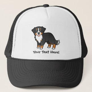 Cartoon Bernese Mountain Dog Trucker Hat