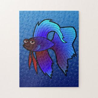 Cartoon Betta Fish / Siamese Fighting Fish Jigsaw Puzzle