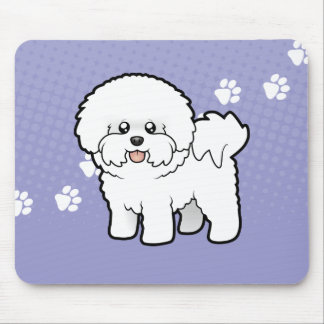 Cartoon Bichon Frise Mouse Mat