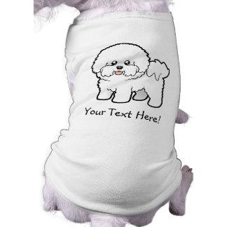 Cartoon Bichon Frise Sleeveless Dog Shirt