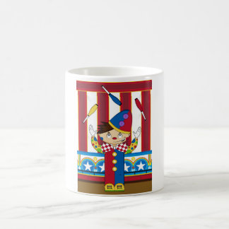 Cartoon Bigtop Juggling Circus Clown Coffee Mug