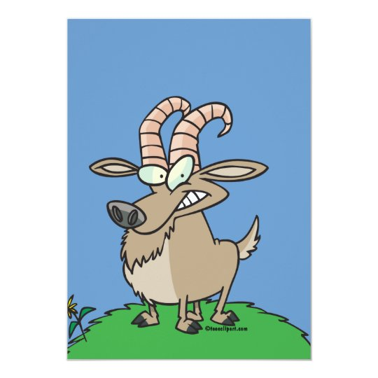 cartoon billy goat card