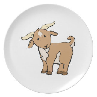 Cartoon Billy Goat Plate