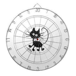 Cartoon Black Cat Dartboard