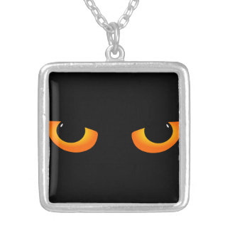 Cartoon Black Cat Eyes Necklace
