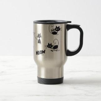 Cartoon Black Cat Travel Mug