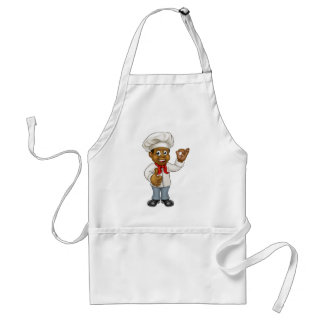 Cartoon Black Chef Cook Standard Apron