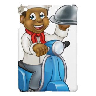Cartoon Black Chef on Moped Scooter iPad Mini Covers