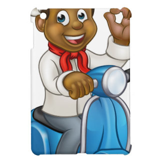 Cartoon Black Delivery Moped Chef Cover For The iPad Mini