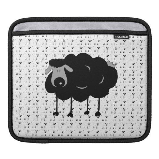 Cartoon Black Sheep iPad Sleeve