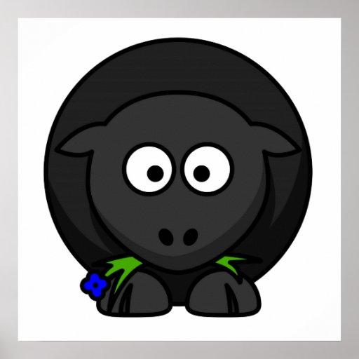 Cartoon Black Sheep Posters