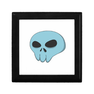 cartoon blue skull gift box