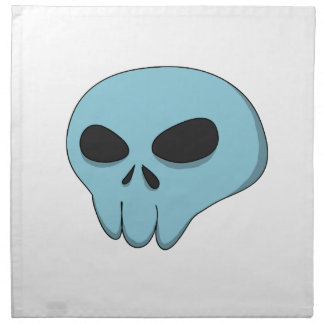 cartoon blue skull napkin