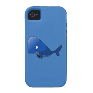 Cartoon Blue Whale Vibe iPhone 4 Cover