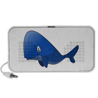 Cartoon Blue Whale Travel Speakers