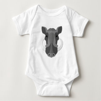 Cartoon Boar Head Baby Bodysuit
