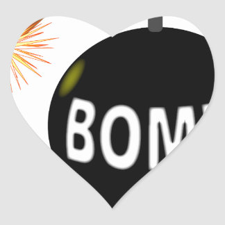 Cartoon Bomb Heart Sticker
