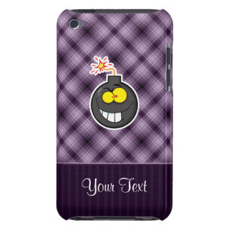 Cartoon Bomb Purple Barely There iPod Case