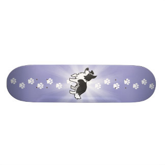 Cartoon Border Collie 18.1 Cm Old School Skateboard Deck