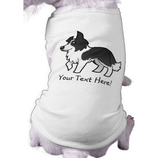 Cartoon Border Collie Sleeveless Dog Shirt