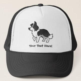 Cartoon Border Collie Trucker Hat