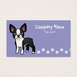 Cartoon Boston Terrier