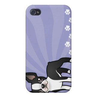 Cartoon Boston Terrier Case For The iPhone 4