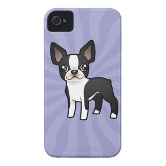 Cartoon Boston Terrier Case-Mate iPhone 4 Cases