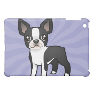 Cartoon Boston Terrier iPad Mini Covers