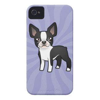 Cartoon Boston Terrier iPhone 4 Covers